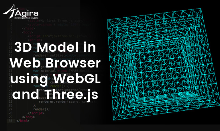 3D Model in Web Browser using WebGL and Three