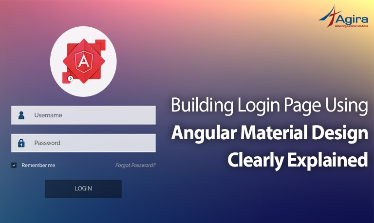 Building Login Page using angular Material design Clearly Explained