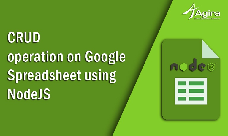 CRUD operation on Google Spreadsheet using Node JS