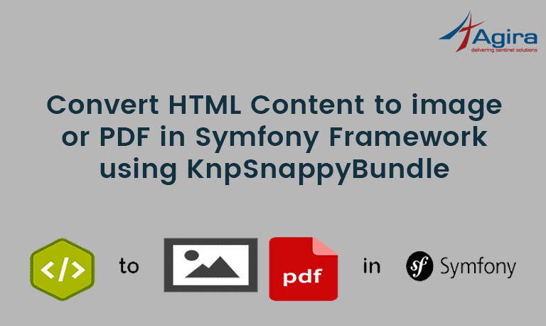 Convert HTML Content to image or PDF in Symfony Framework using KnpSnappyBundle