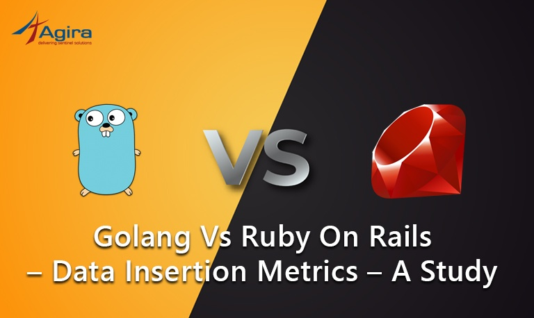 Golang Vs Ruby on Rails – Data Insertion Metrics – A Study