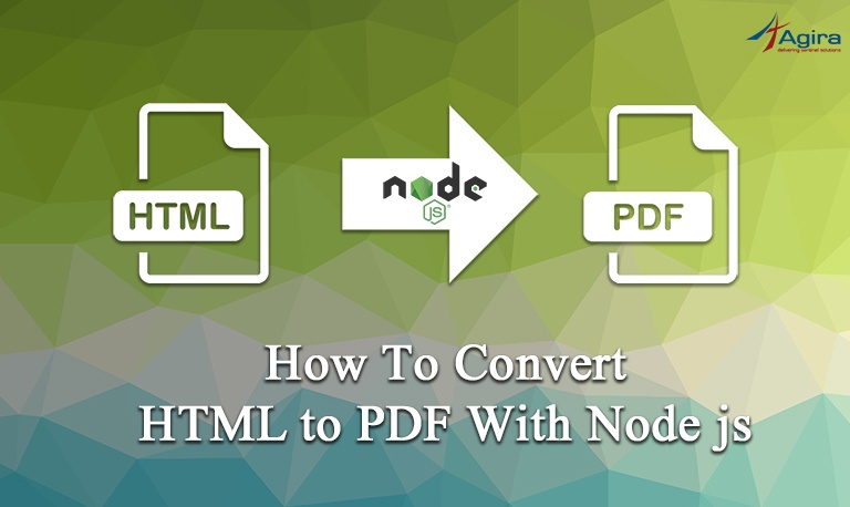 How to convert html to pdf with node js