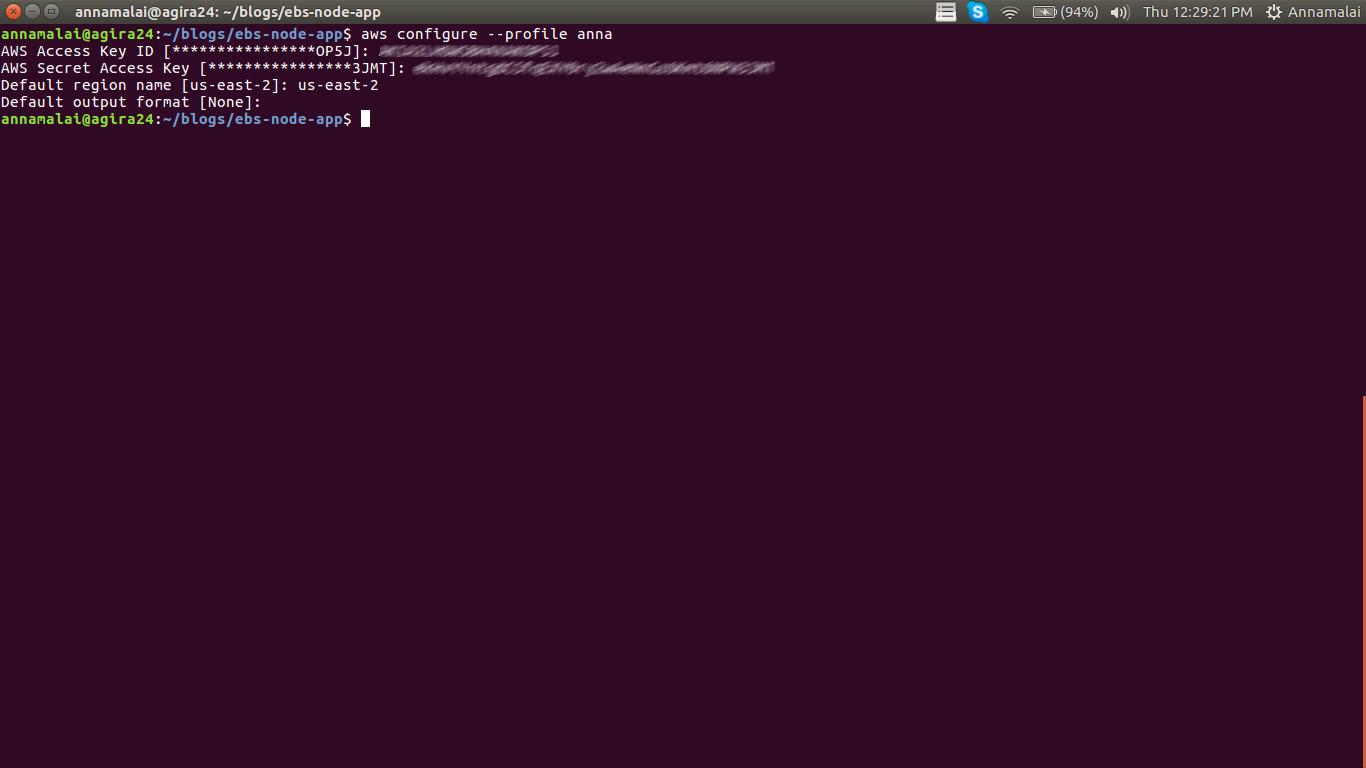node.js Aws beanstalk