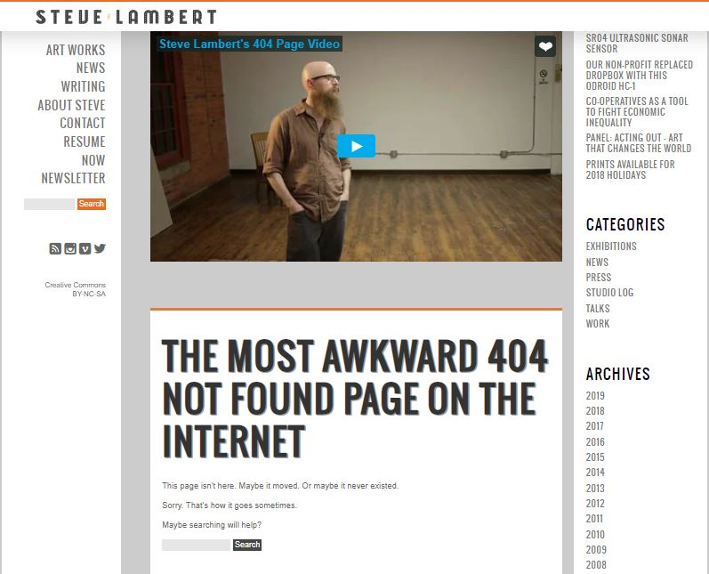 Steve lambert 404 page not found
