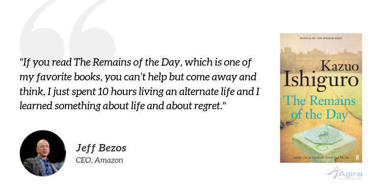 The Remains of the Day by Kazuo Ishiguro- Jeff Bezos