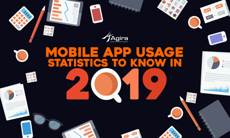 Mobile app user infographic