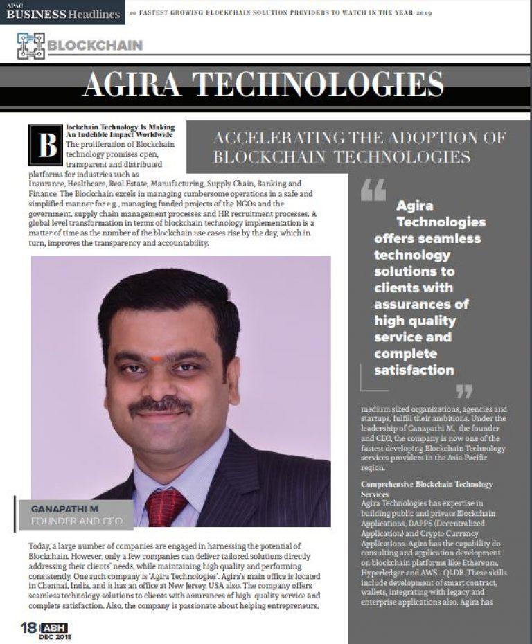 Agira awards