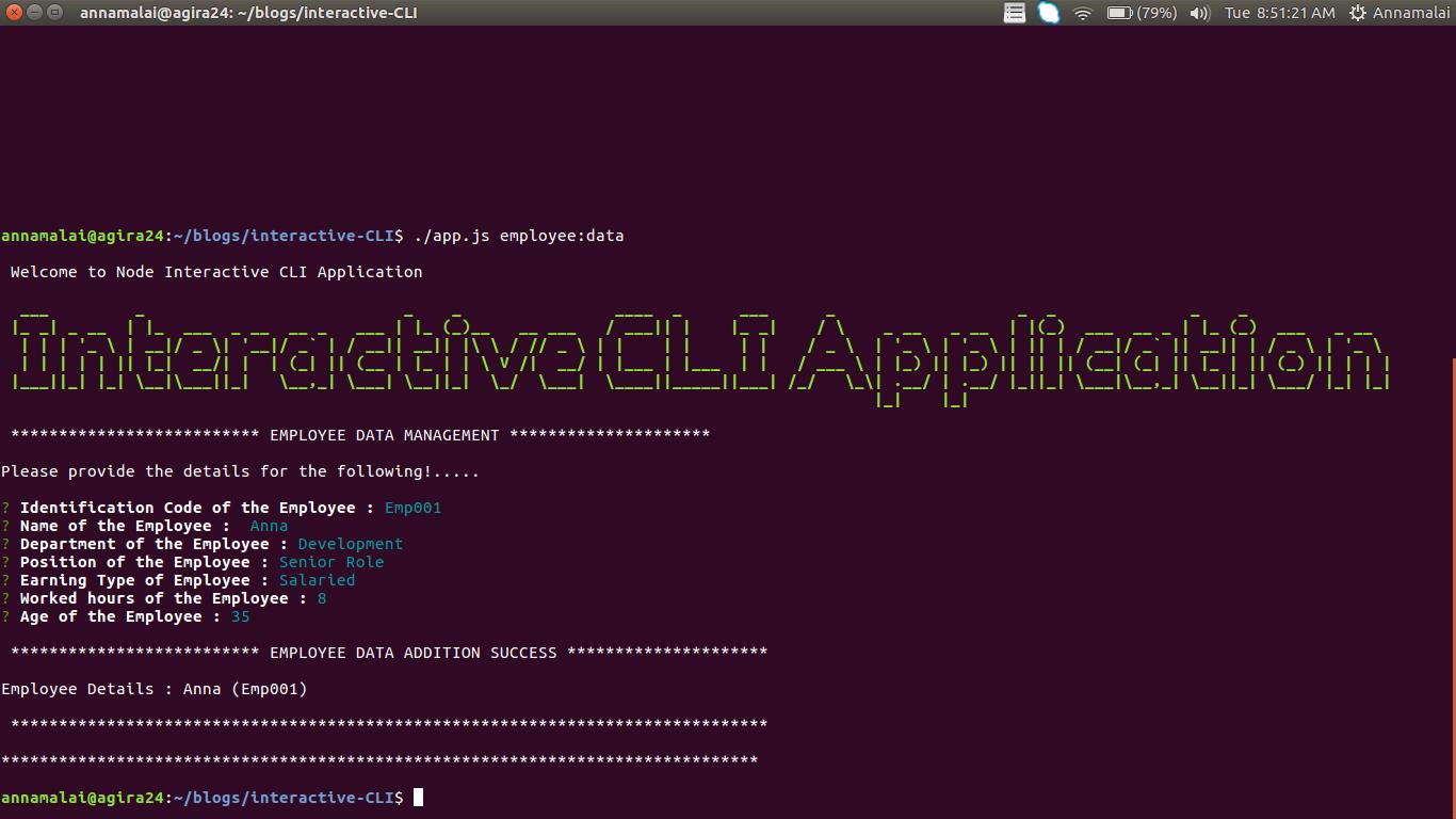 build interactive cli