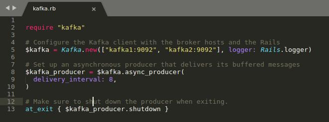 Build service architecture using Kafka & Rails