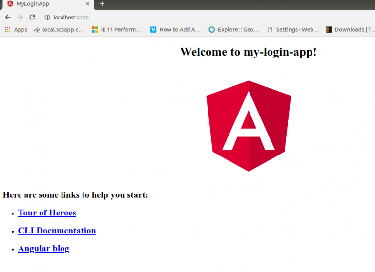 Angular initial page