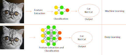 Difference between Machine learning and Deep learning working process_Neutral Networks