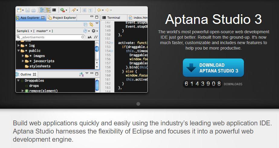 Angular IDEs- Aptana Studio