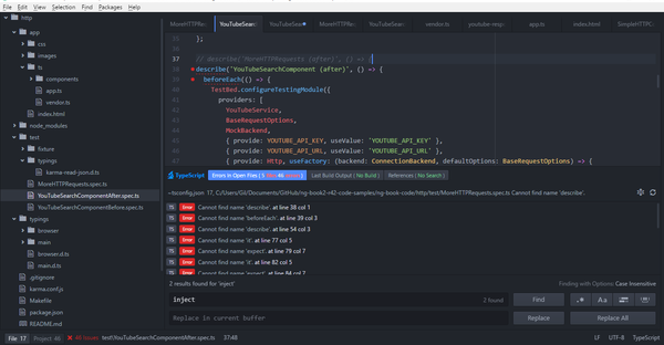 Angular IDEs - Atom Editor