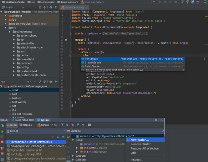 Angular IDEs- Webstrom