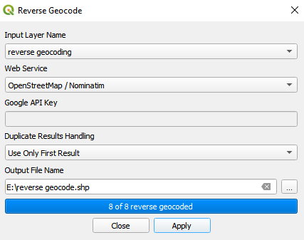 Geocoding API and Reverse Geocoding