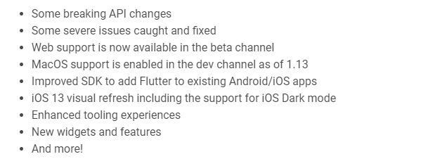 Flutter 1.12 new features