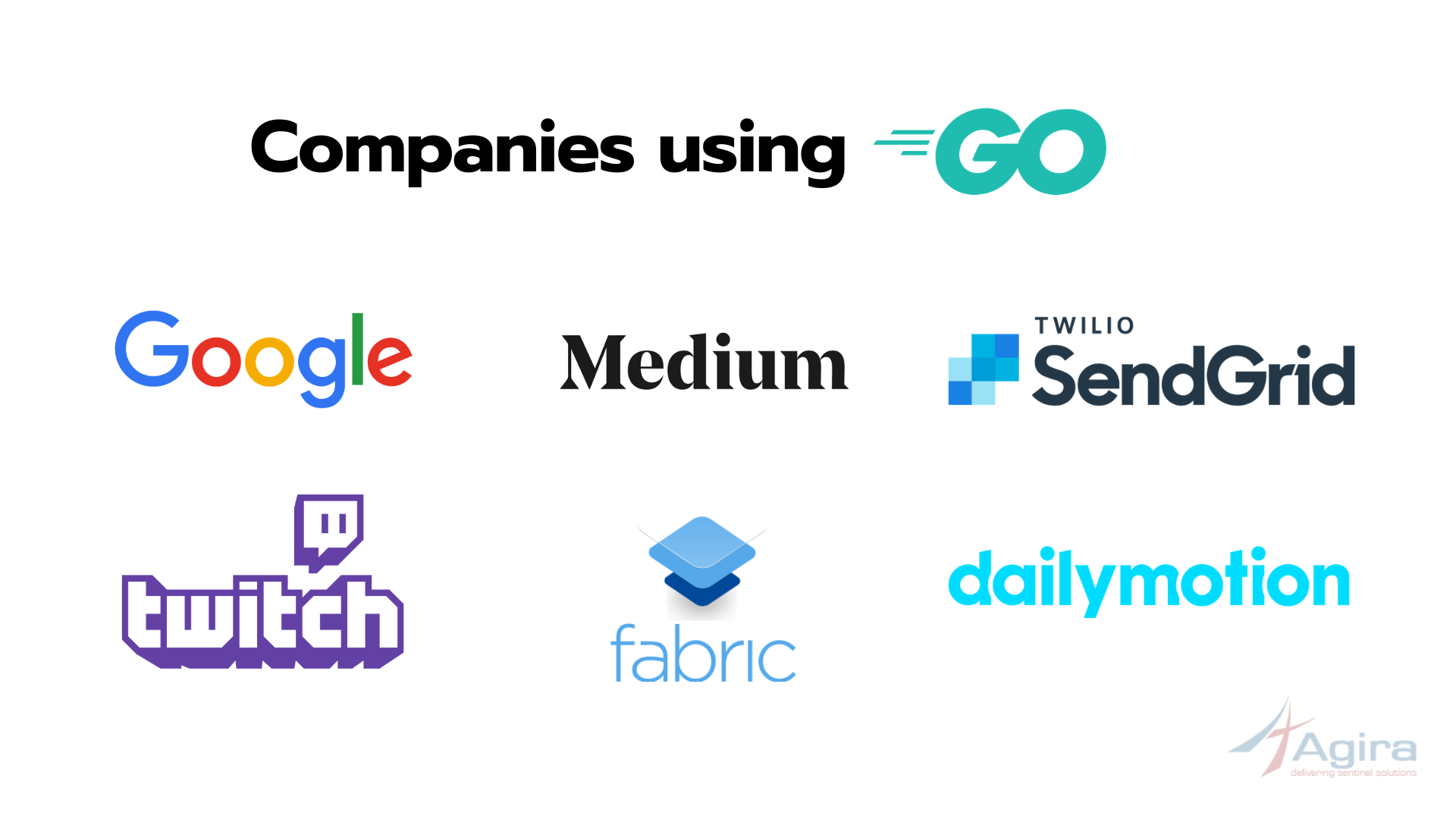 companies that use golang