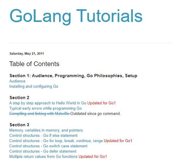 golang tutorials - learn go