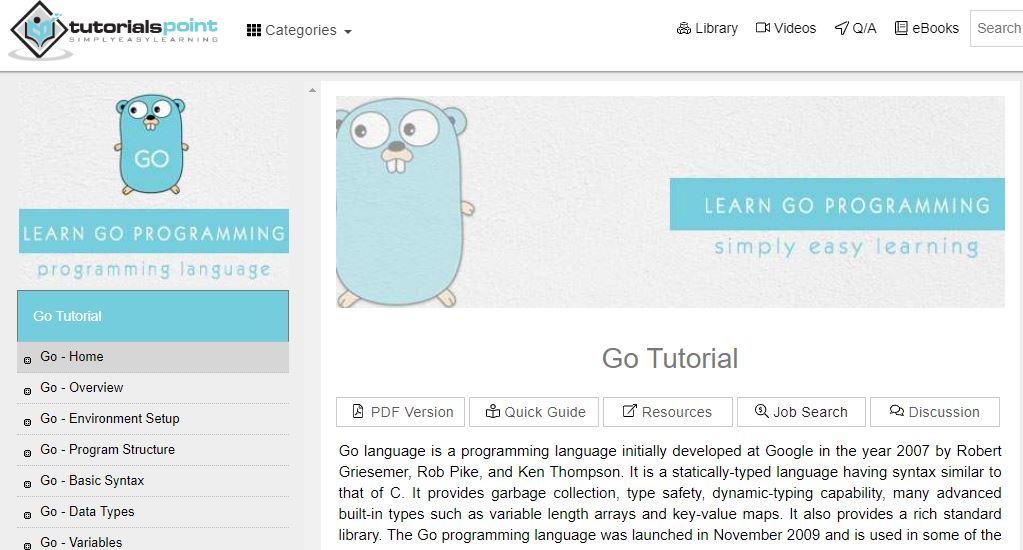 tutorials point_learn go