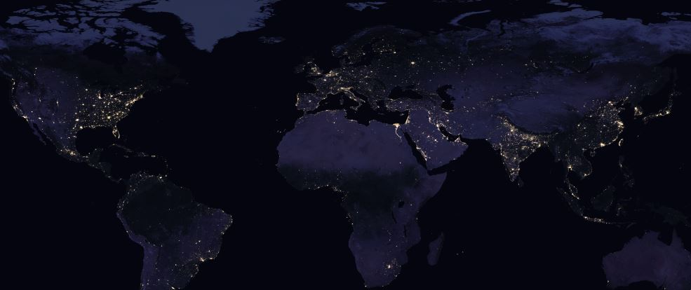 world Night view nasa