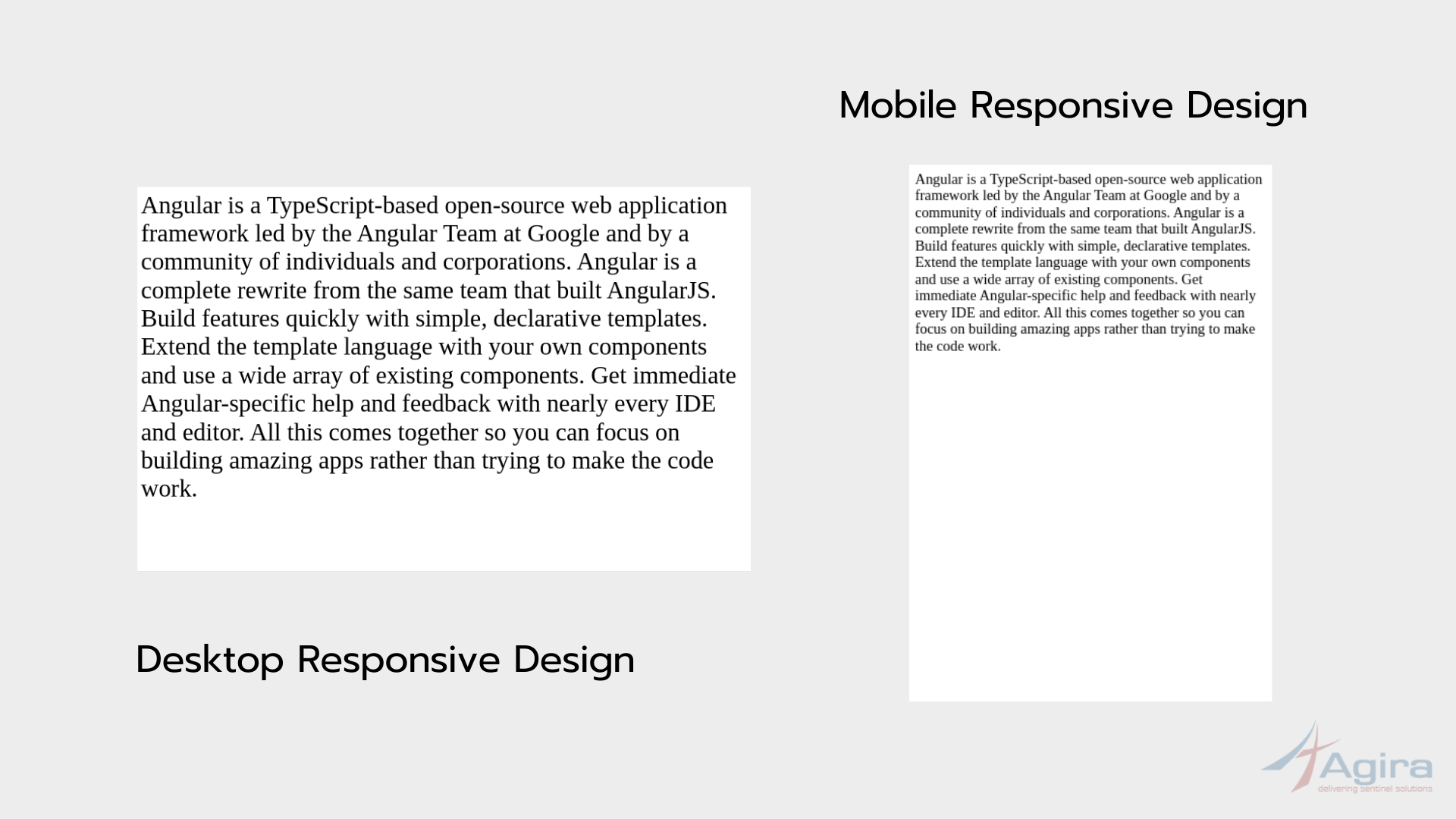Text - responsive design