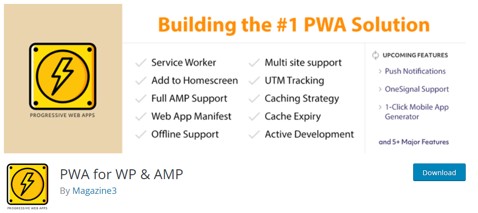 pwa for wp and amp