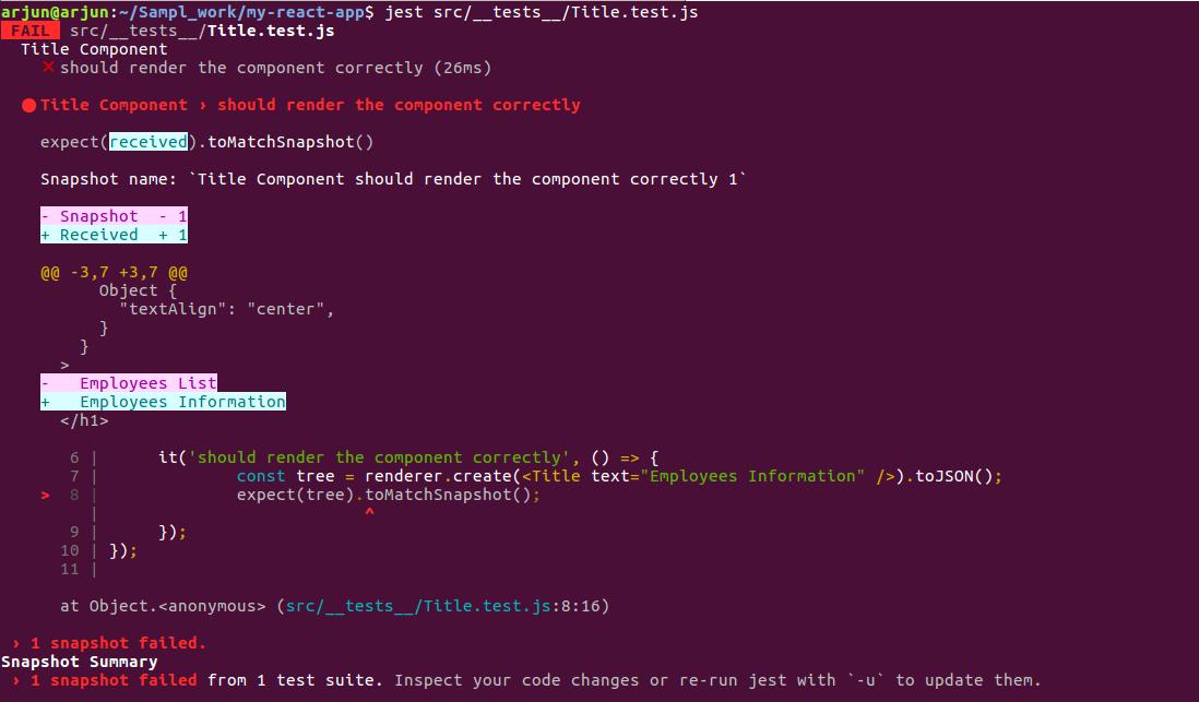 unit testing react js