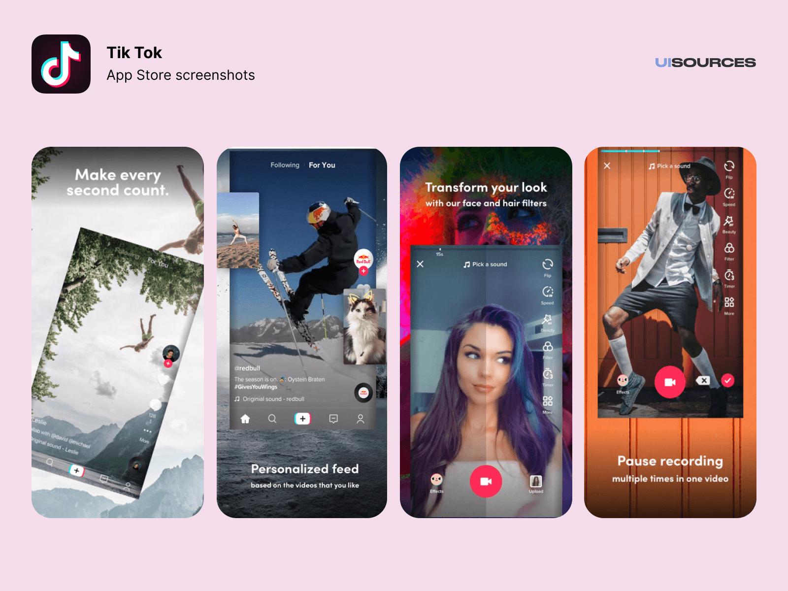 features of tiktok app